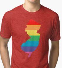 rainbow new jersey Tri-blend T-Shirt