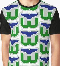 HARTFORD WHALERS HOCKEY RETRO Graphic T-Shirt