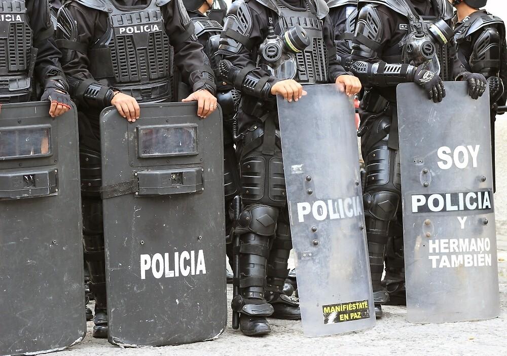 Riot Police in Cotacachi by rhamm