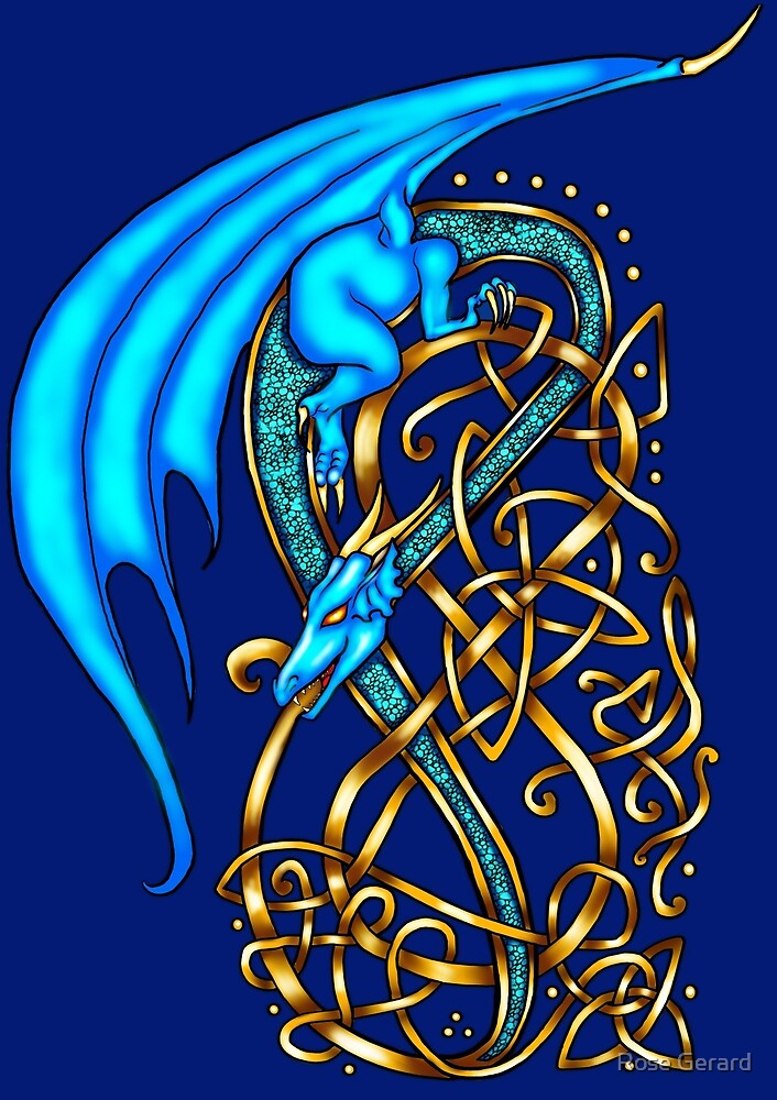 Knotwork Dragon by Rose Gerard