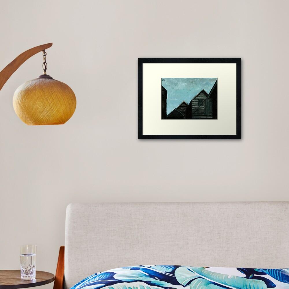 Net Huts: Roof Angles  Framed Art Print