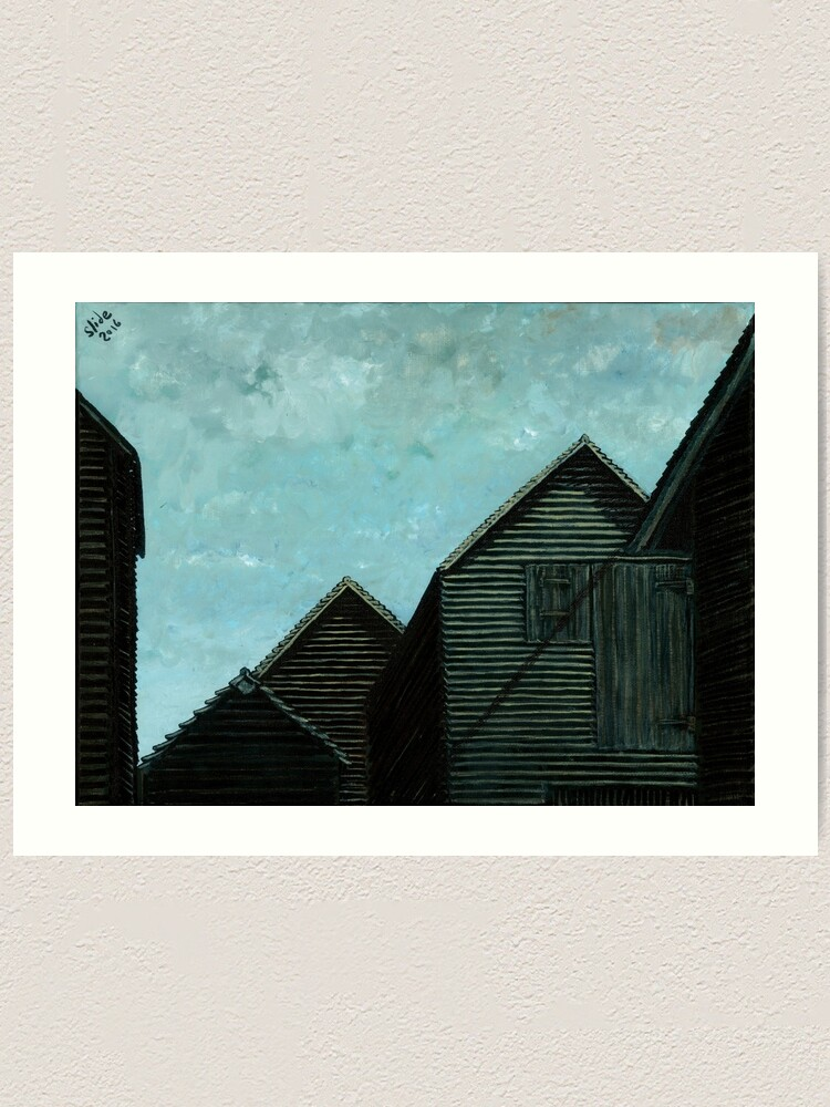Alternate view of Net Huts: Roof Angles  Art Print