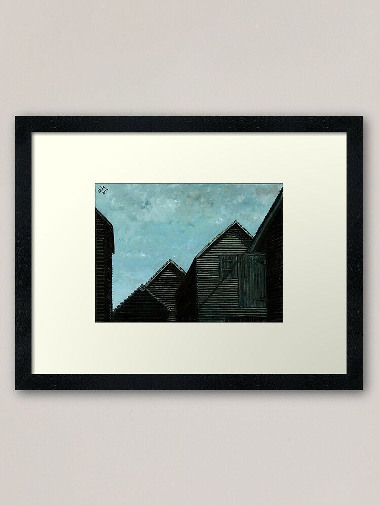 Alternate view of Net Huts: Roof Angles  Framed Art Print