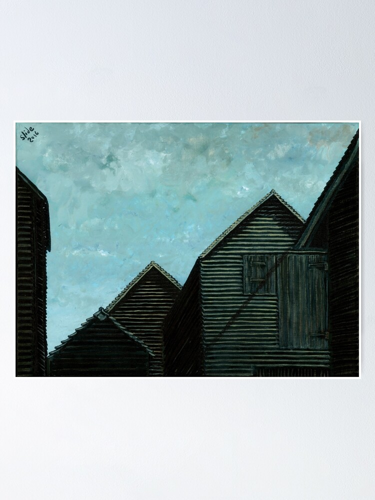 Alternate view of Net Huts: Roof Angles  Poster
