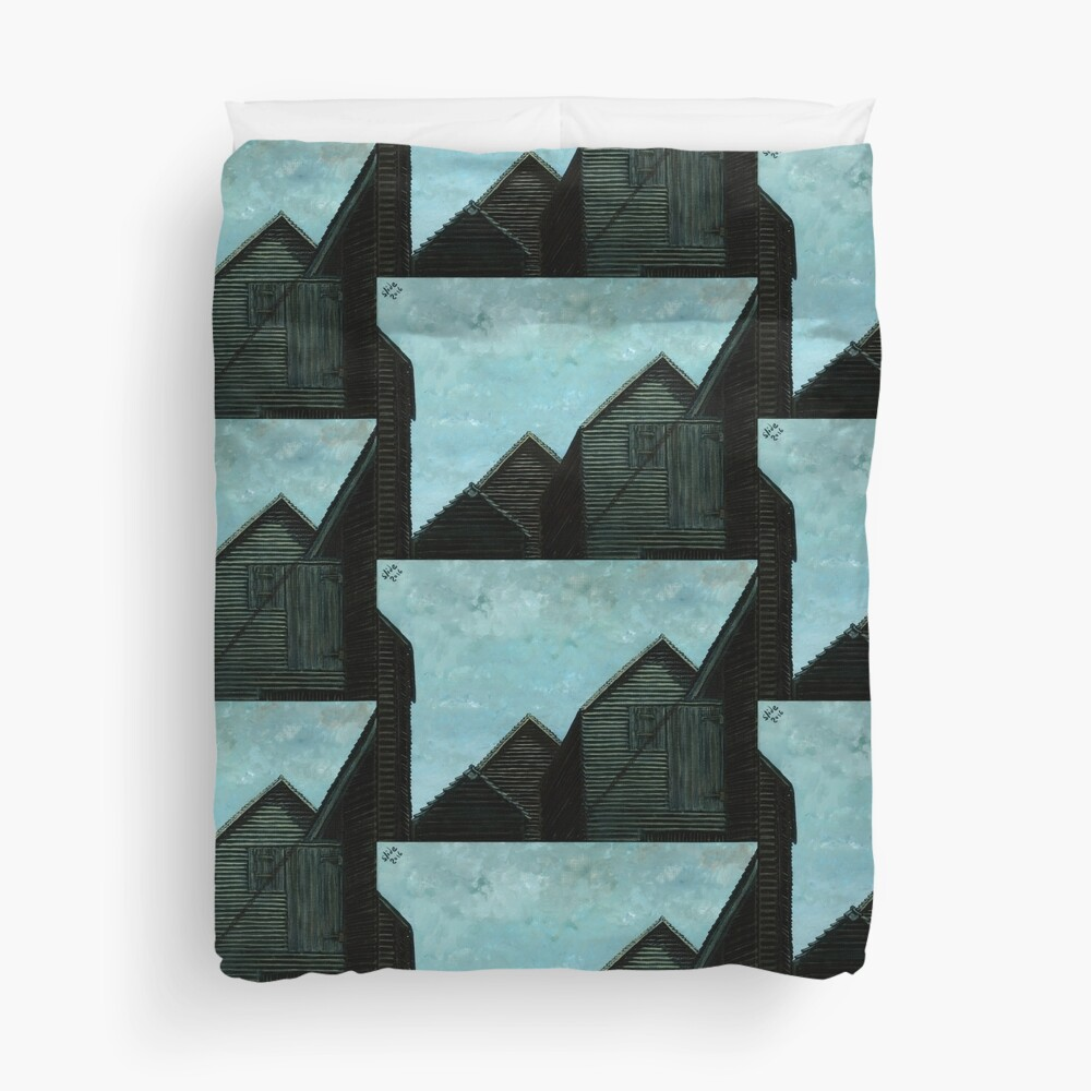 Net Huts: Roof Angles  Duvet Cover