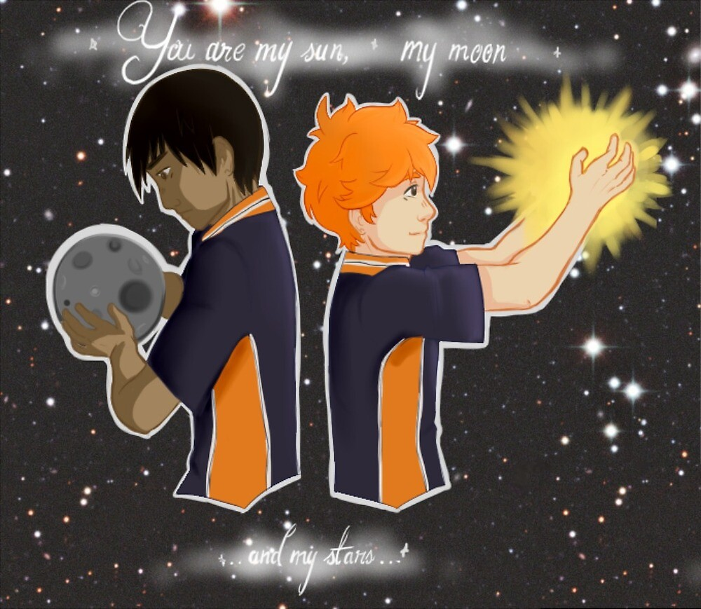 Kagehina Sun and Moon by Peppermintpapers art