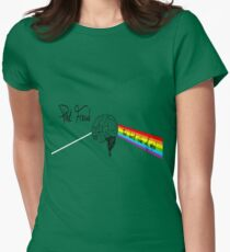 the dark side of mind Womens Fitted T-Shirt