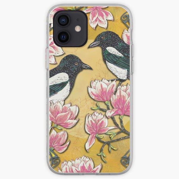 Celtic Magpies & Magnolias iPhone Soft Case