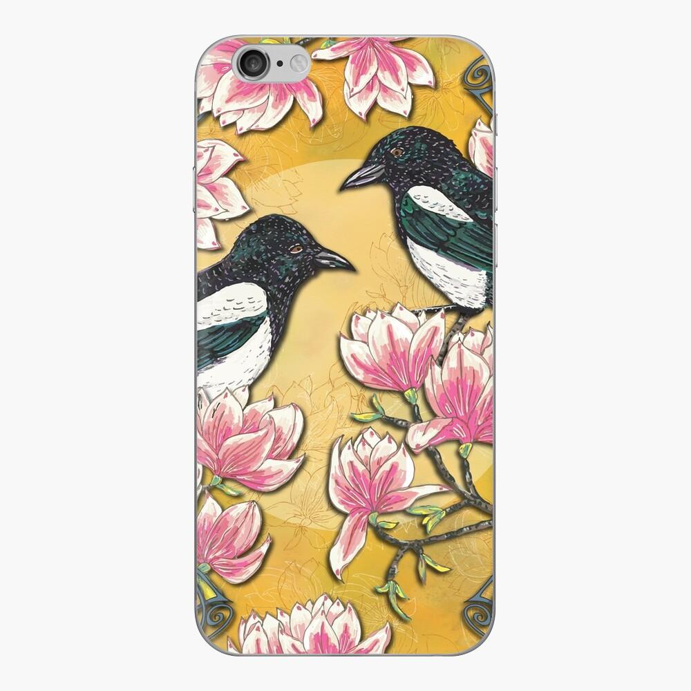 Celtic Magpies & Magnolias iPhone Skin