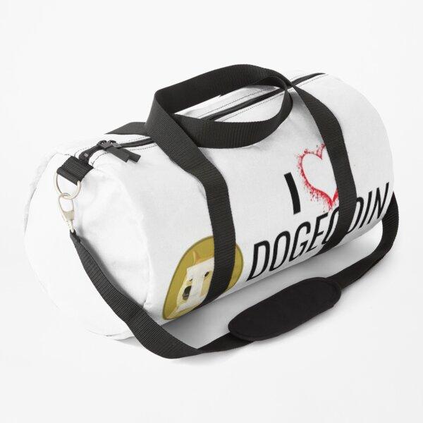I Love Dogecoin Duffle Bag