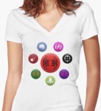 Villainous Archetypes v1 Women's Fitted V-Neck T-Shirt
