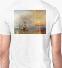The Fighting Temeraire, 1839, by Joseph Mallord William Turner. on White Unisex T-Shirt