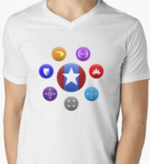 Heroic Archetypes v1 Mens V-Neck T-Shirt