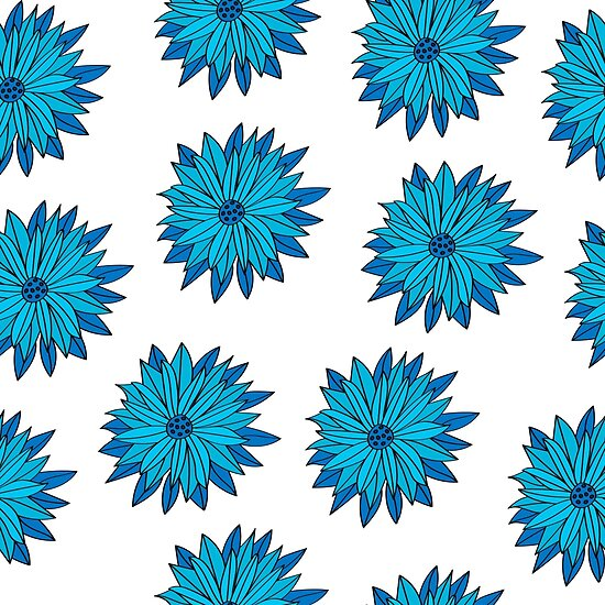 Floral seamless pattern of bright color pretty summer sweet by dasha122007