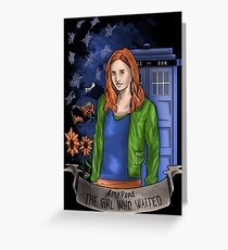 The girl WHO waited. Greeting Card