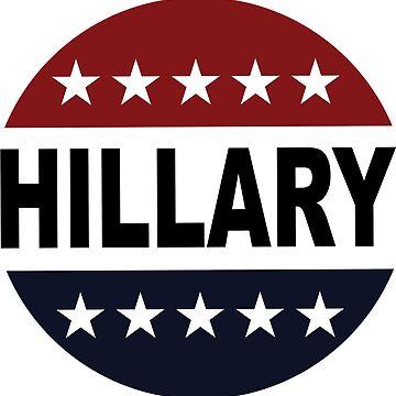 Hillary Clinton 2016 Retro Vote Button Womens Shirt by hillary16shirt