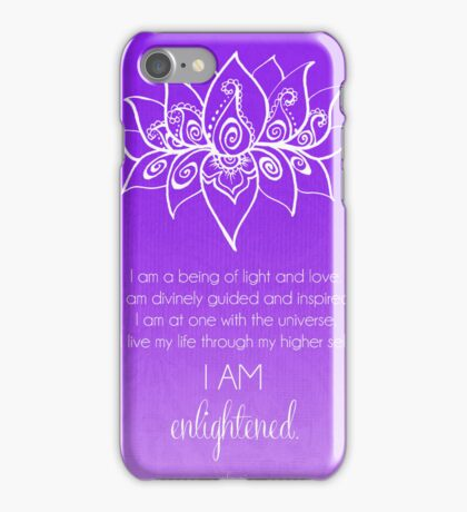 Crown Chakra Affirmation iPhone Case/Skin