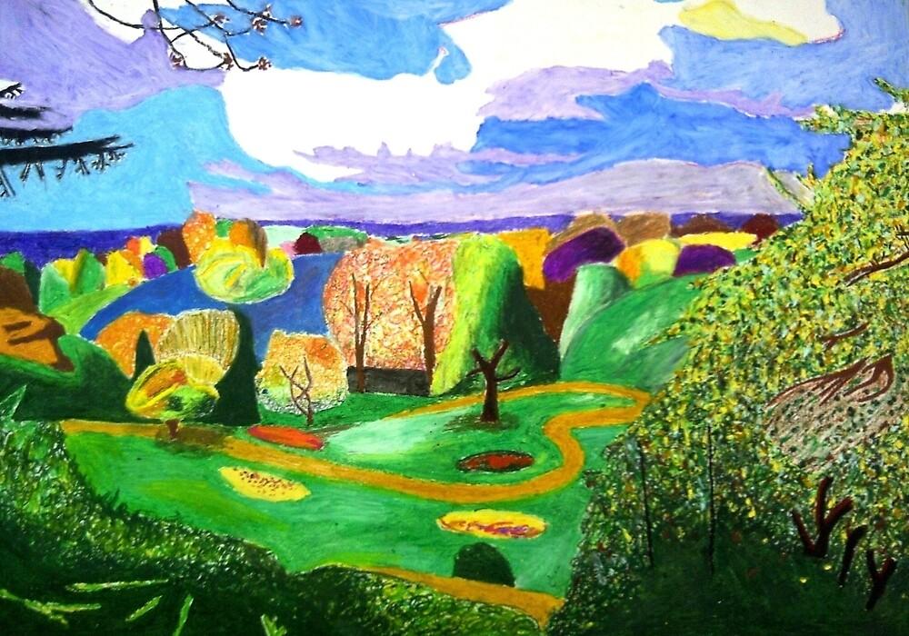Richmond park in pastels by anastasiakov