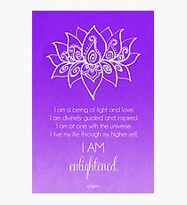 Crown Chakra Affirmation Photographic Print