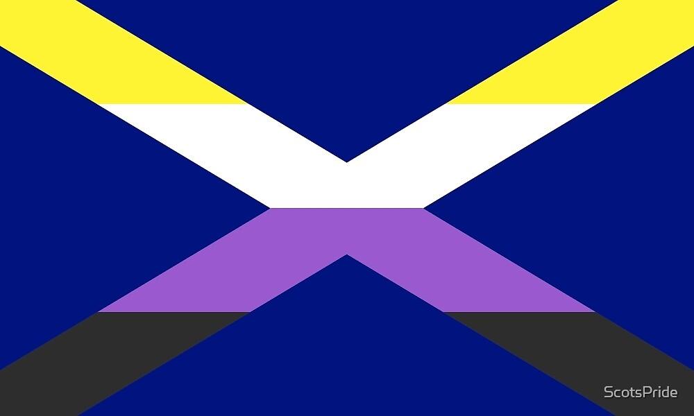 Scottish Nonbinary Pride Saltire by ScotsPride