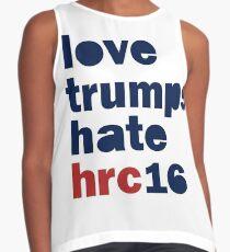 Womens Hillary 2016 shirt - Love Trumps Hate Hillary Womens Shirt Contrast Tank