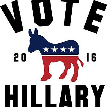 Vintage Vote Hillary Clinton 2016 Womens Shirt by hillary16shirt