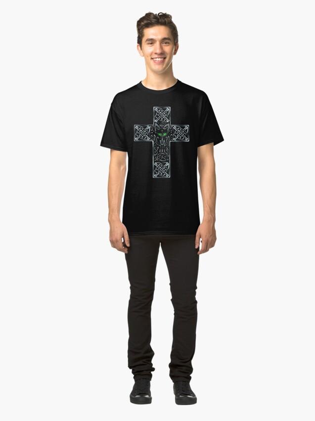 Alternate view of Wolf Cross Classic T-Shirt