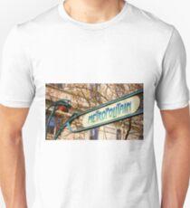 Paris Metro Sign Color T-Shirt