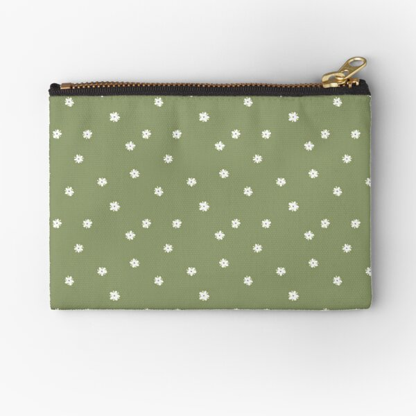 Elderflowers on green, sparse Zipper Pouch
