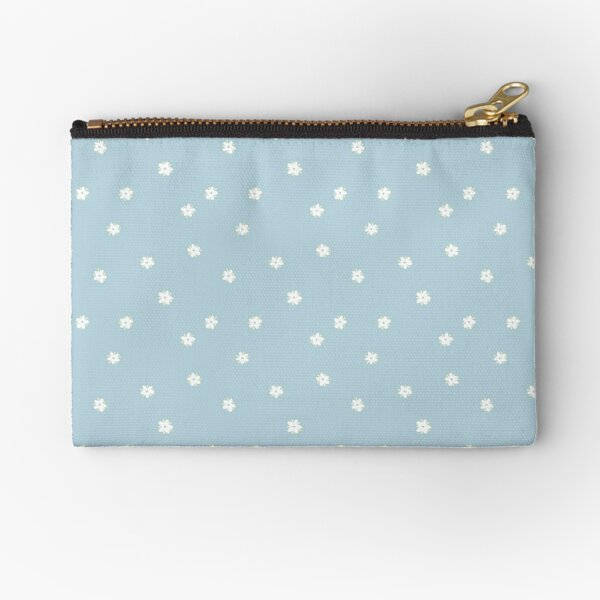 Elderflowers on baby blue, sparse Zipper Pouch