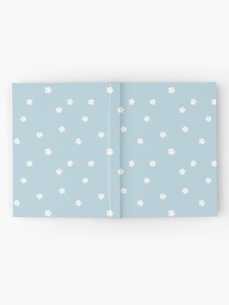 Alternate view of Elderflowers on baby blue, sparse Hardcover Journal
