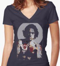 Big Robert Women's Fitted V-Neck T-Shirt