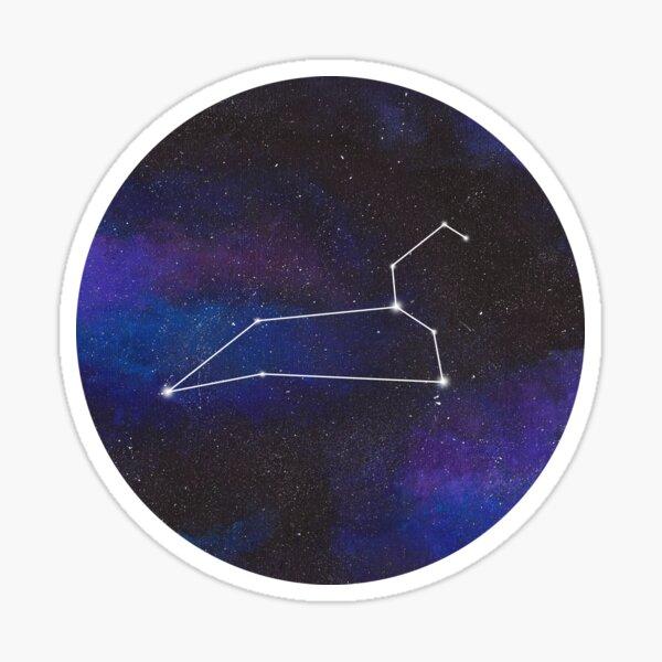 Leo - galaxy star constellation Sticker