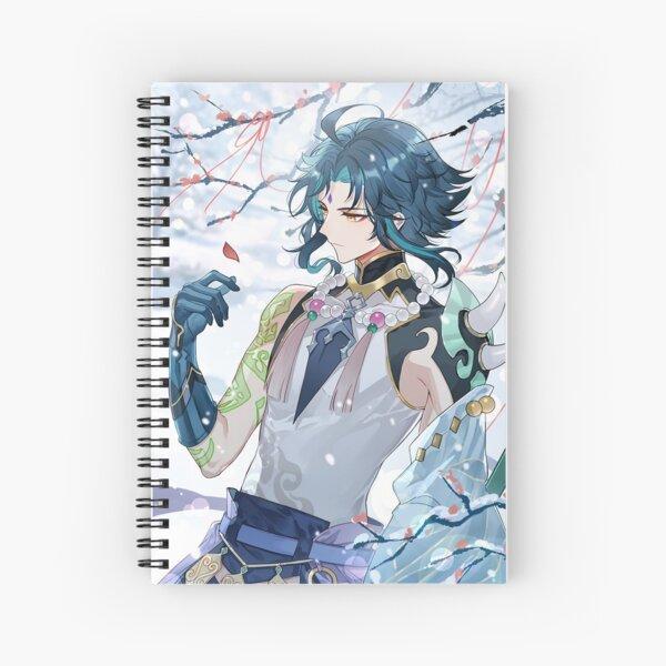 Xiao genshin Sad Spiral Notebook