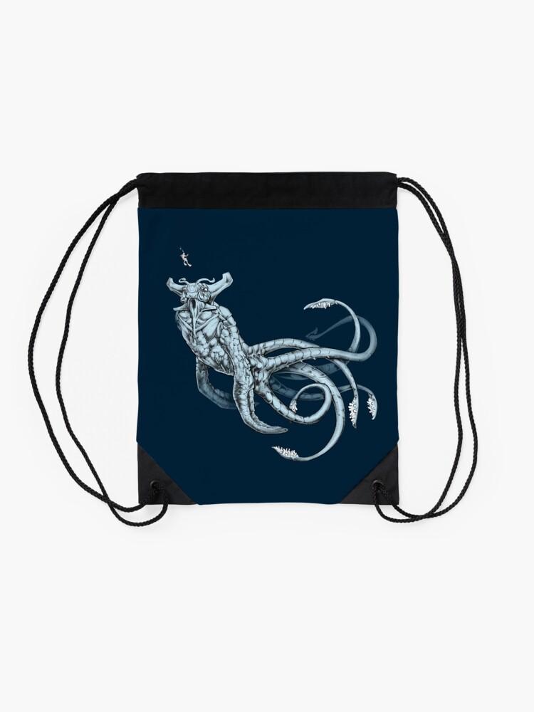 Alternate view of Sea Emperor Transparent Drawstring Bag
