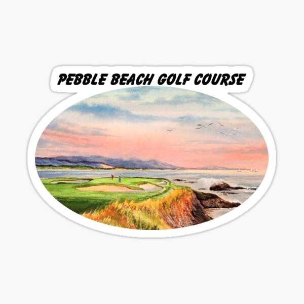 Pebble Beach Golf Course With Banner Sticker
