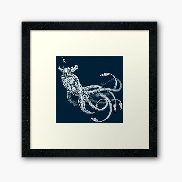 Sea Emperor Transparent Framed Art Print