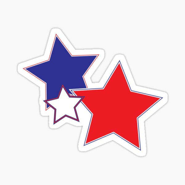 Red White and Blue Stars Sticker