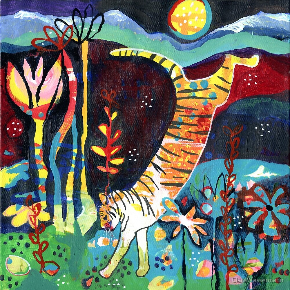 Leaping Tiger by ClareWassermann