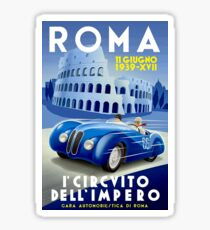 """ROMA VINTAGE GRAND PRIX"" Auto Racing Print Sticker"