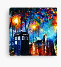 Tardis Romantic Night Canvas Print