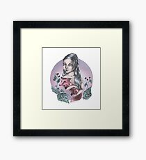 Girl with red fox Framed Print