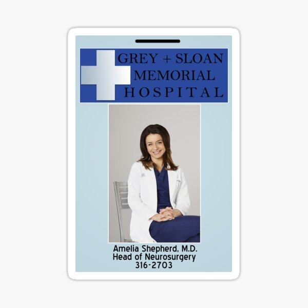 Amelia Shepherd ID Badge Sticker