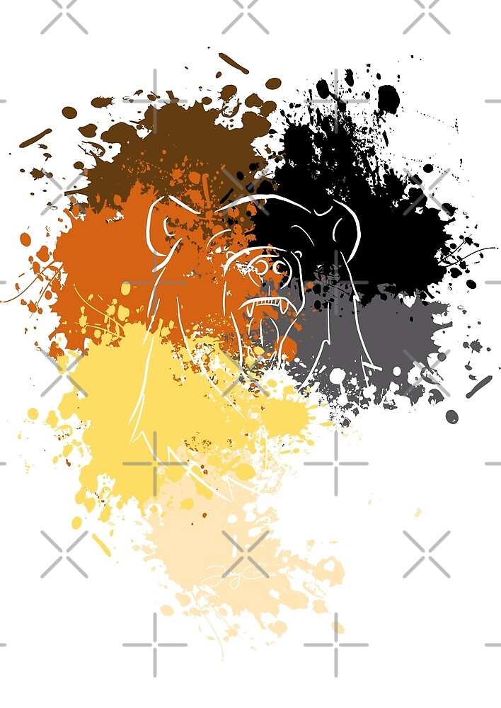 Pride Bear Colors by JoeyGeeArt