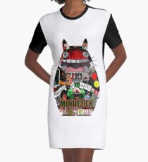 Totoro Mindfuck Graphic T-Shirt Dress