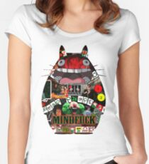 Totoro Mindfuck Women's Fitted Scoop T-Shirt