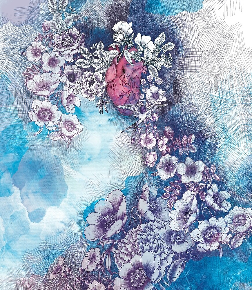 singing heart (print) by mariposablu