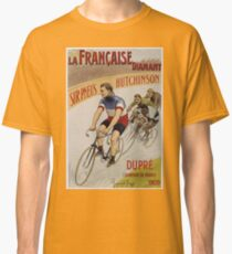 Unknown - La Francaise Diamant Poster. People portrait: man, bicycle ,  bicycling ,  cycle,  cycling,  enjoy,  free time,  fun,  hobbies,  hobby,  holiday Classic T-Shirt