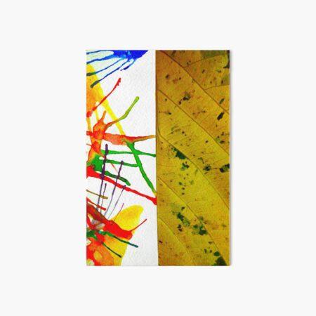Bathik arts with leaf Art Board Print
