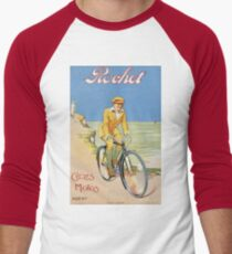 Unknown - Rochet Cycles Motos Poster. Man portrait: strong man,  bicycle ,  bicycling ,  cycle,  cycling,  enjoy,  free time,  fun,  hobbies,  hobby,  holiday T-Shirt